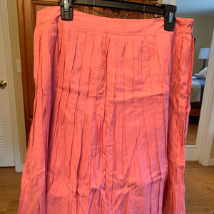 NWOT Coral Talbots pleated skirt, size 10